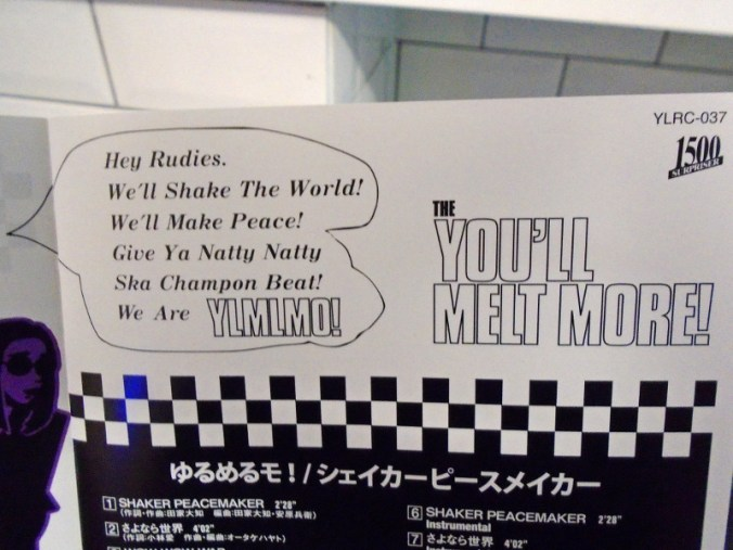 "Inner sleeve of You'll Melt More!'s ""SHAKER PEACEMAKER"" mini-album"