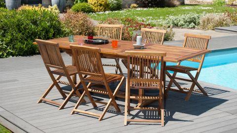 nos tables de jardin design rondes ou