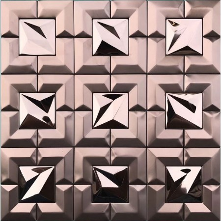 Rose Gold Stainless Steel Tile Backsplash Mosaic Tile Metal Wall Tile