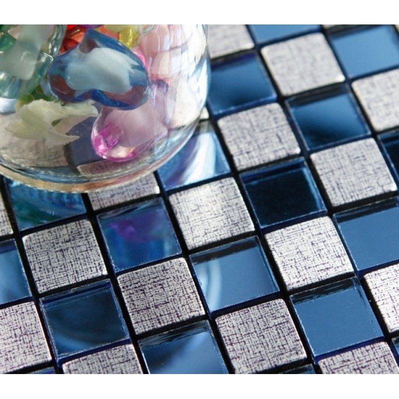 peel and stick tile square metal wall