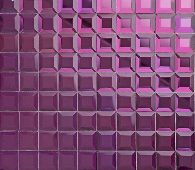 purple crystal glass mosaic tile mirror tile wall backsplashes square bathroom tile klgt1208