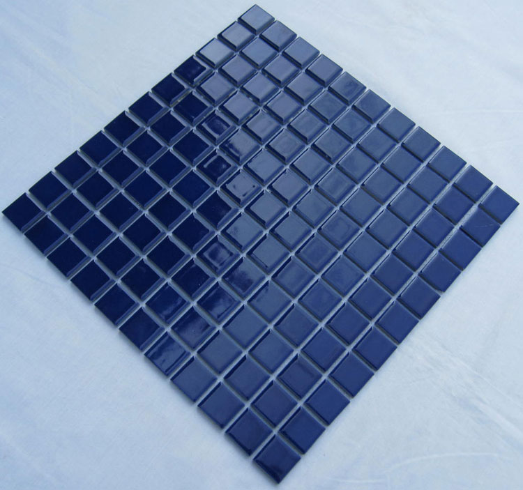 glazed porcelain square mosaic tiles design blue ceramic tile swimming pool flooring kitchen backsplash tc 014