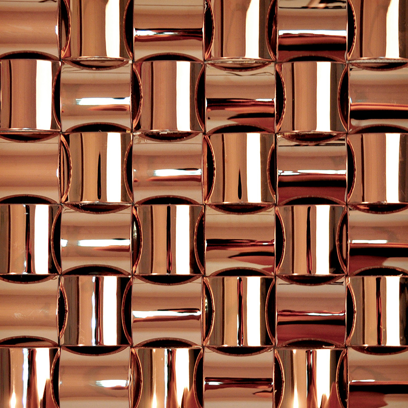 Metallic MosaicTile Arched Tiles Stainless Steel