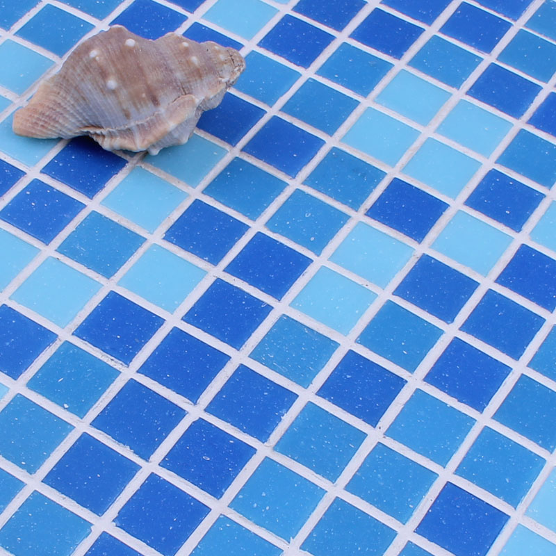 wholesale mosaic tile crystal glass backsplash washroom design bathroom wall floor swimming pool tiles blue