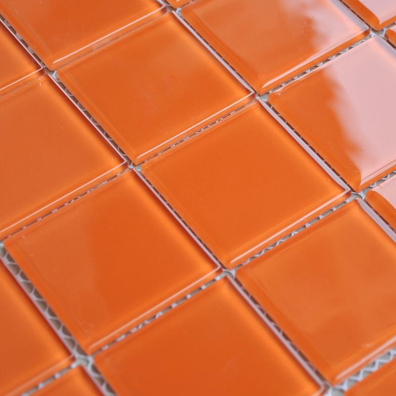 wholesale orange crystal glass mosaic tiles kitchen backsplash design bathroom wall floor shower free shipping