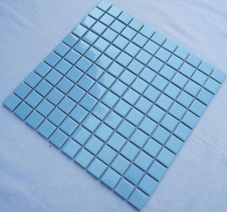 Glazed Porcelain Square Mosaic Tiles Design Blue Ceramic Tile Swimming Pool Flooring Kitchen