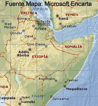 Mapa Cuerno de África