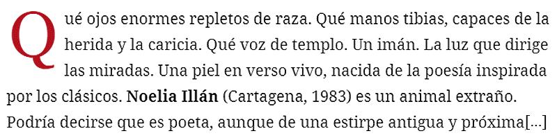 Reseña sobre la obra de Noelia Galán. Imagen Zendalibros.com