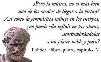 Aristóteles sobre la música