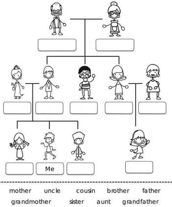 Rellenar árbol genealógico en inglés