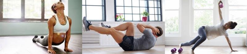 Hacer ejercicios para hacer en casa