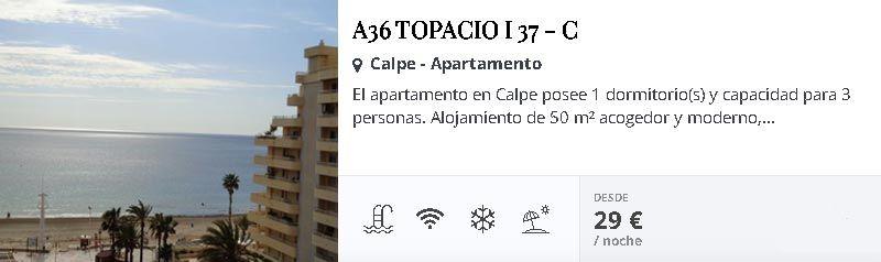 Apartamentos en Calpe