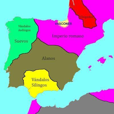 Los vándalos en Hispania en el 418 d.C.