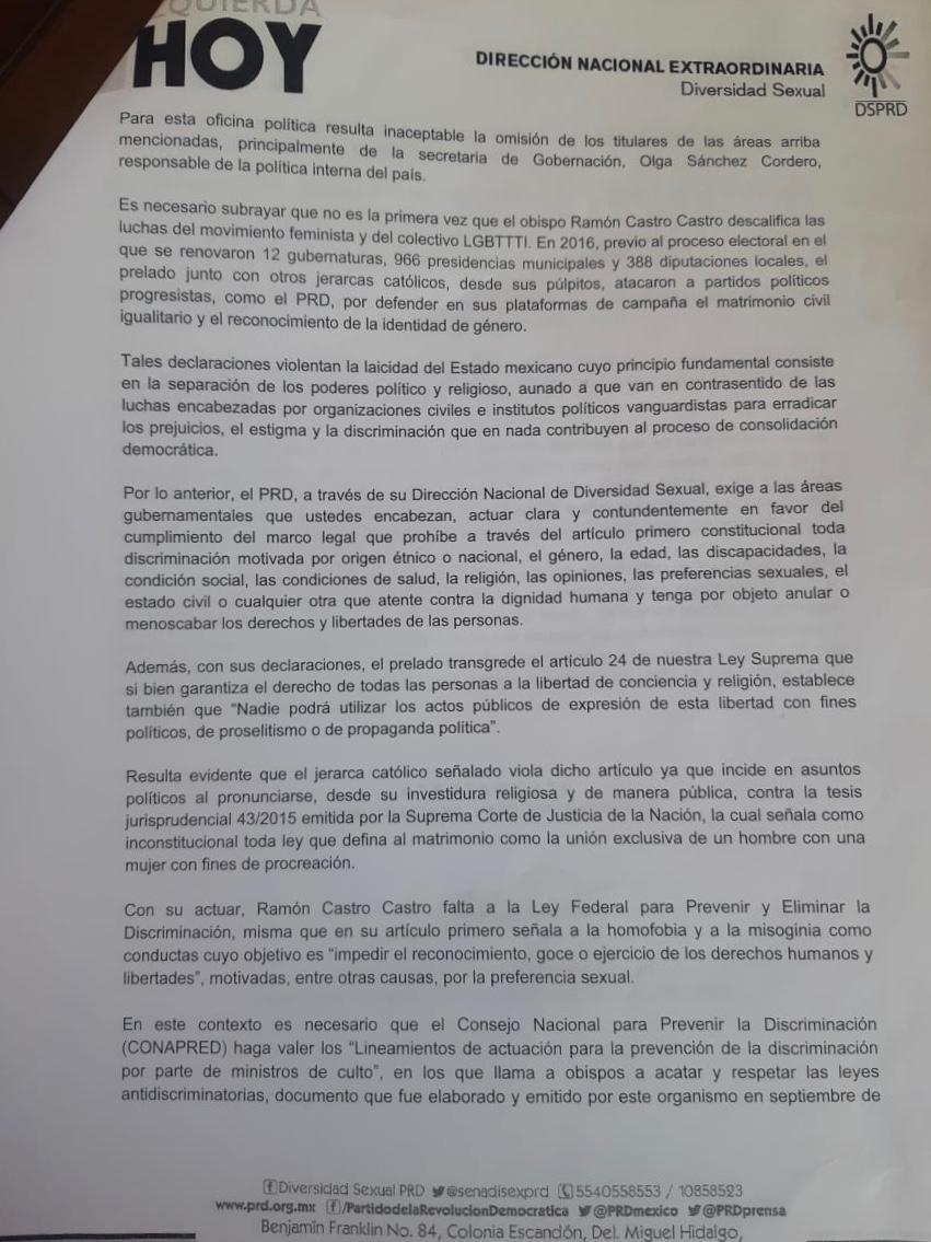 conapred-activistas-lgbt-responden-obispo-cuernavaca-ramón-castro-denuncia-2