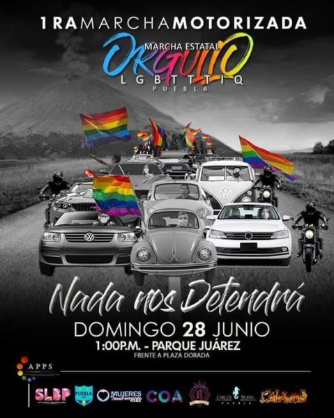 Puebla Marcha Orgullo motorizada