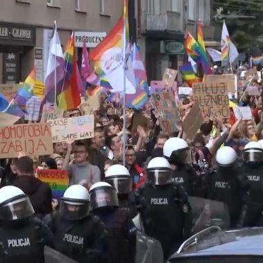 Manifestación de la comunidad LGBT+ en Polonia