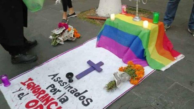 Protesta contra la impunidad en crímenes de odio hacia la comunidad LGBTQ+ en Veracruz