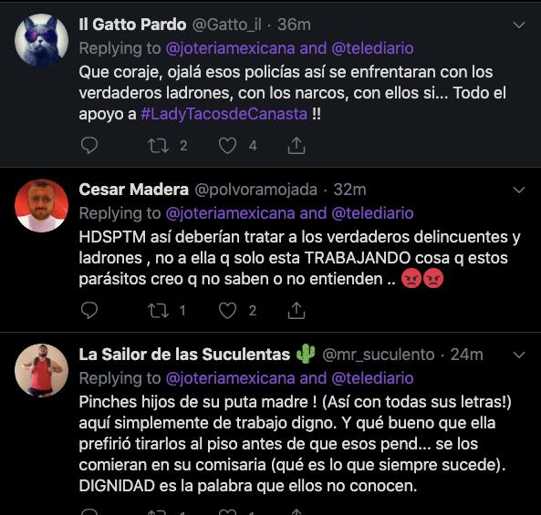 Comentarios en Twitter.