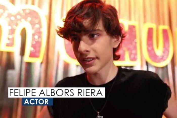 Felipe Albors, uno de los actores de la nueva serie de Menudo