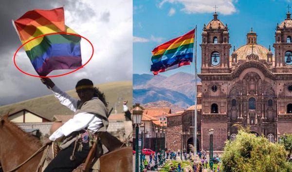 Confusión banderas Cusco LGBT