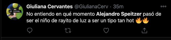 COMENTARIO twitter alejandro speitzer guapo atractivo