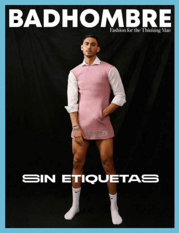 Alejandro Speitzer vestido fotos rosa mujer