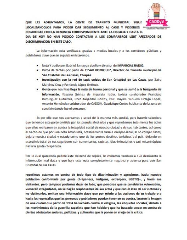 CADDIV se pronuncia sobre caso de turistas gays en San Cristóbal