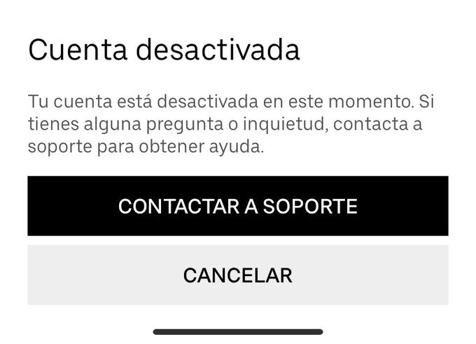 cuenta suspendida uber deseos fab