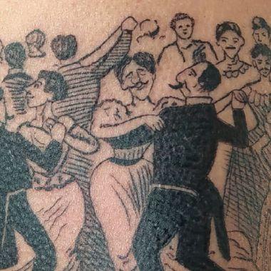 Adrían Palapa tatuador baile de los 41