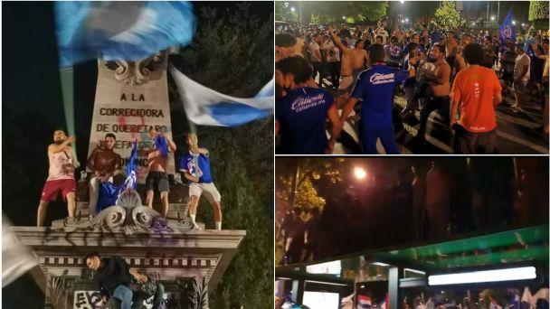 Vandalizan monumentos en festejo de campeonato de futbol