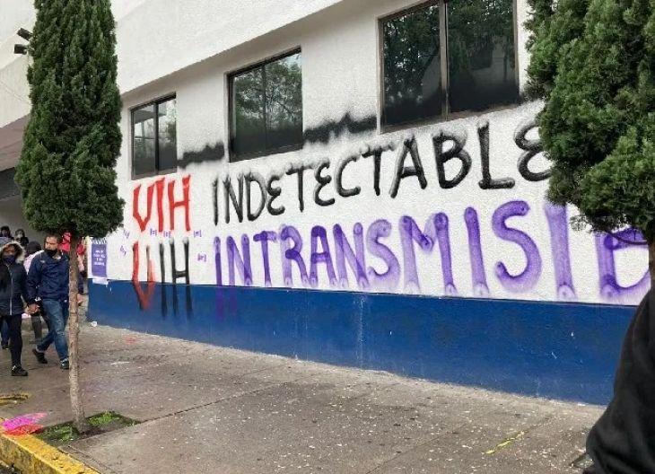 Protesta contra casos de serofobia en México