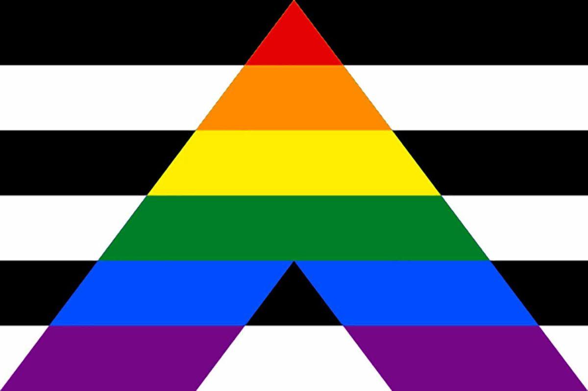 Bandera de los aliados LGBT+