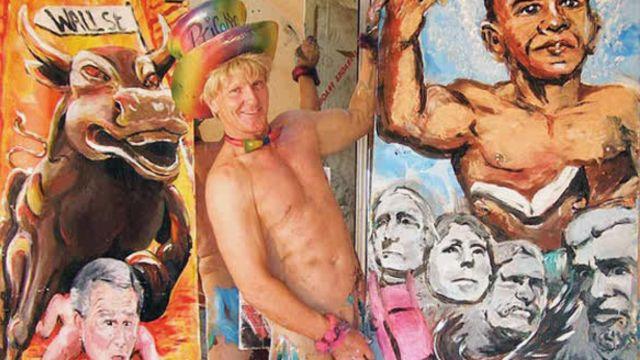 pricasso artista pintor pene escroto
