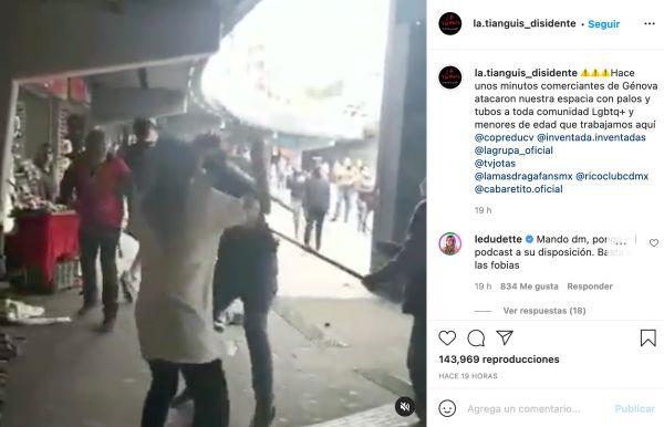 las tianguis disidente agresión video instagram