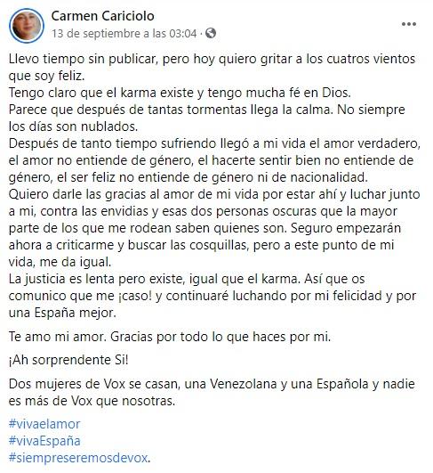 Carmen Cariciolo concejala de Vox