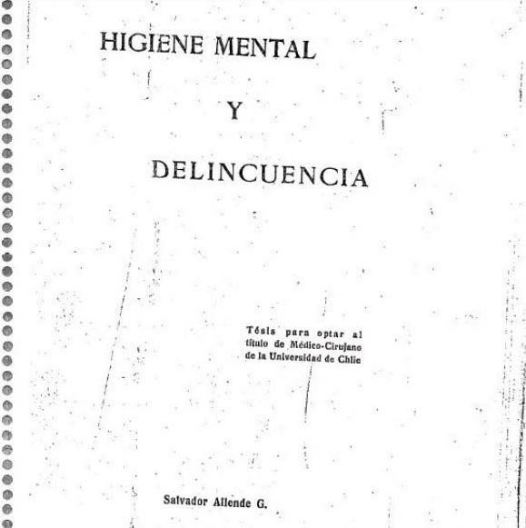 Tesis de Salvador Allende