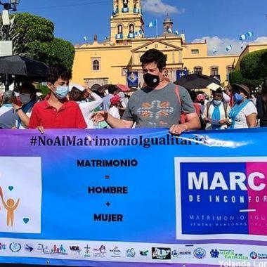 grupos antiderechos fake news matrimonio igualitario querétaro marcha