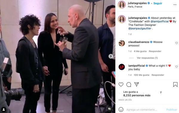 julieta grajales parís lp instagram fotos pareja jean paul gaultier