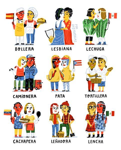 lesbianas en cada país