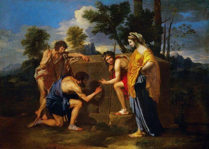 Et In Arcadia Ego, Rajoy muestra este cuadro para enseñar la fugacidad de la vida y que, incluso en la Arkadia, la muerte está presente.