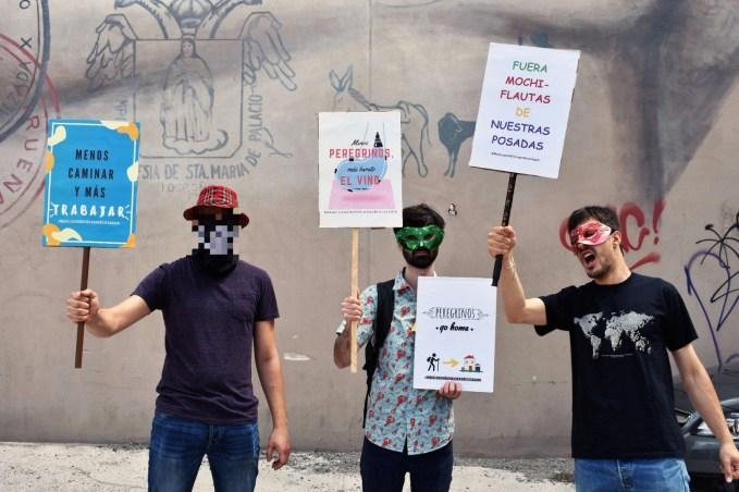 protestan contra el camino de santiago en logroño
