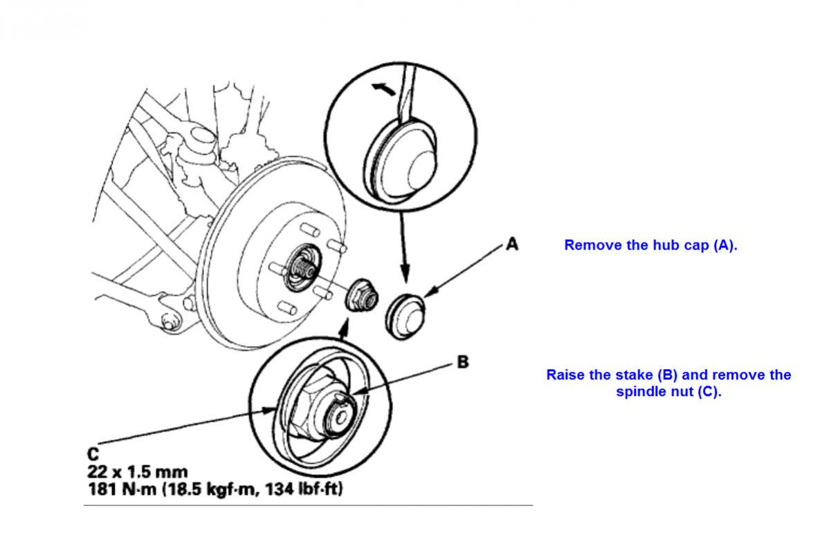 Accord Ex Rear Wheel Bearings Replacement