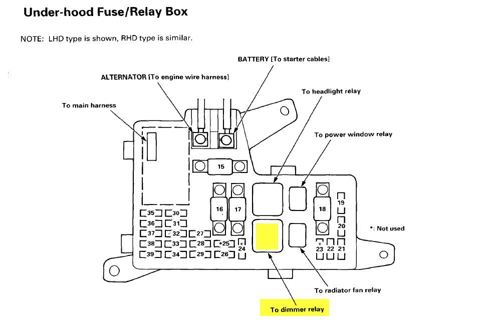 b16a alternator wiring diagram fine 97 honda accord wiring rh color castles com 97 Honda Accord Wiring Diagram 1996 Honda Accord Parts Diagram