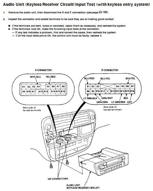 diagram for 98 honda civic radio wiring diagrams full