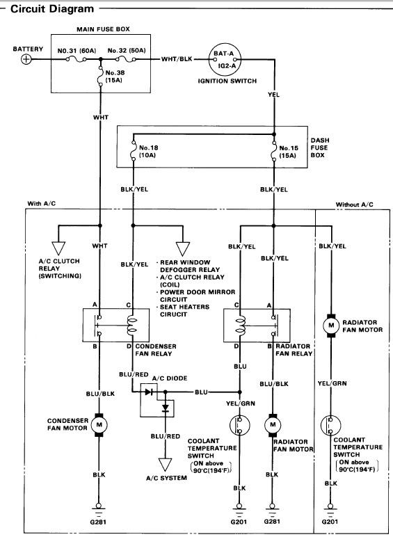 2001 honda civic cooling system wiring diagram  craftmade