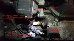 Engine Coolant Temp Sensor  Honda