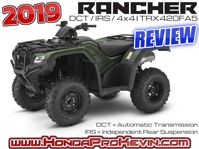 2019 honda rancher 420 dct irs atv