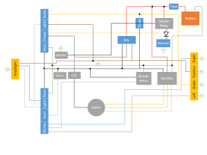 Simplified 78 Honda CB400T Wiring Diagram