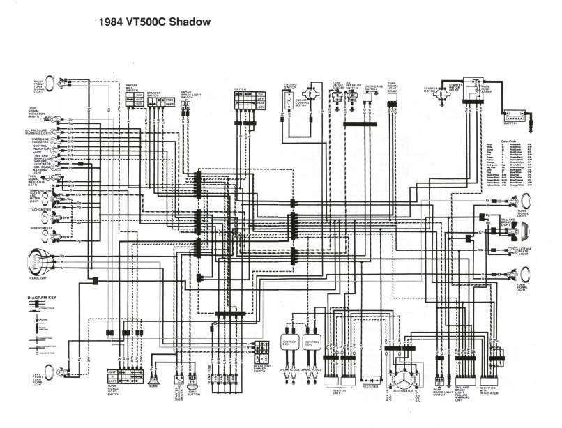 1984 honda vt500c wiring diagram  honda cb1000c wiring diagram     on honda  vtx