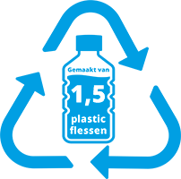1,5 pet fles gerecycled